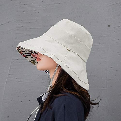 Plegable Sombrero para el Sol Algodón de Ala Ancha Sombrero 12 cm...