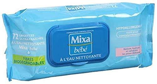 MIXA-MIXA Bébé Lingettes a l'eau nettoyante x72 (x1)