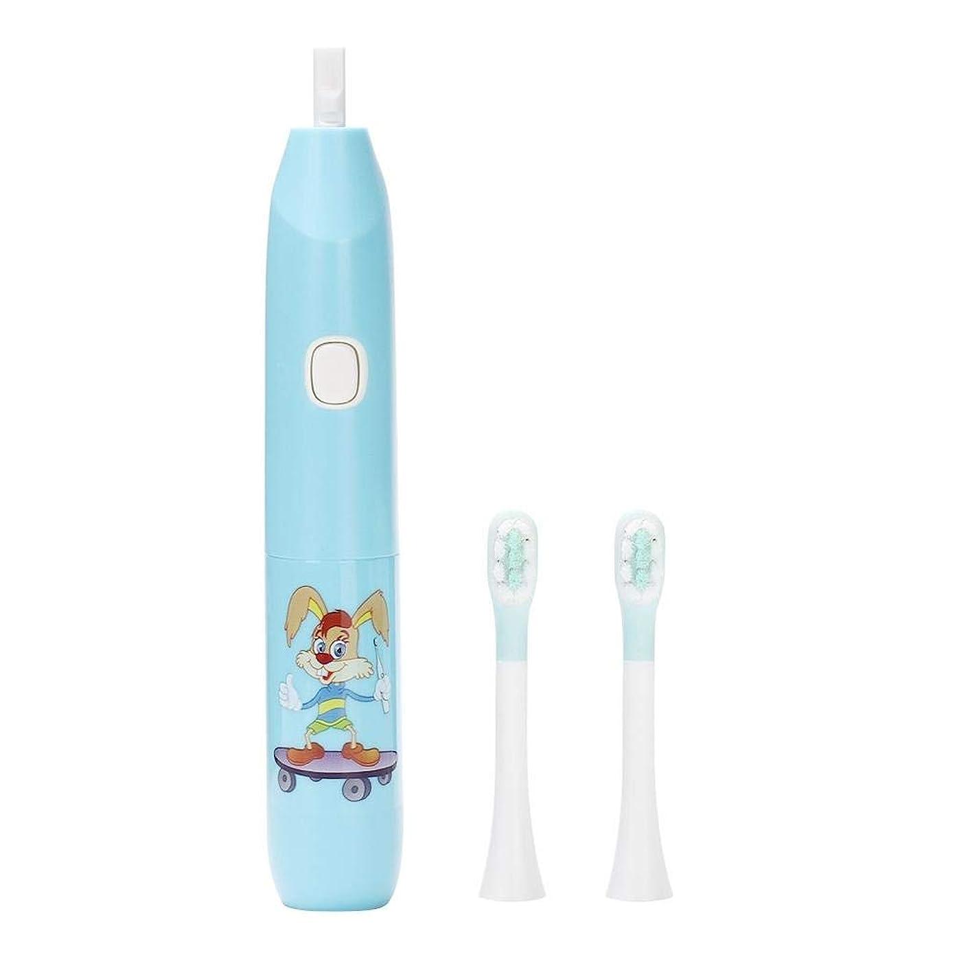 肌寒い振り返るトン電動歯ブラシ、再充電可能な歯ブラシの大人および子供のための口頭ヘルスケアのための深いクリーニングのきれいなブラシの頭部(青)