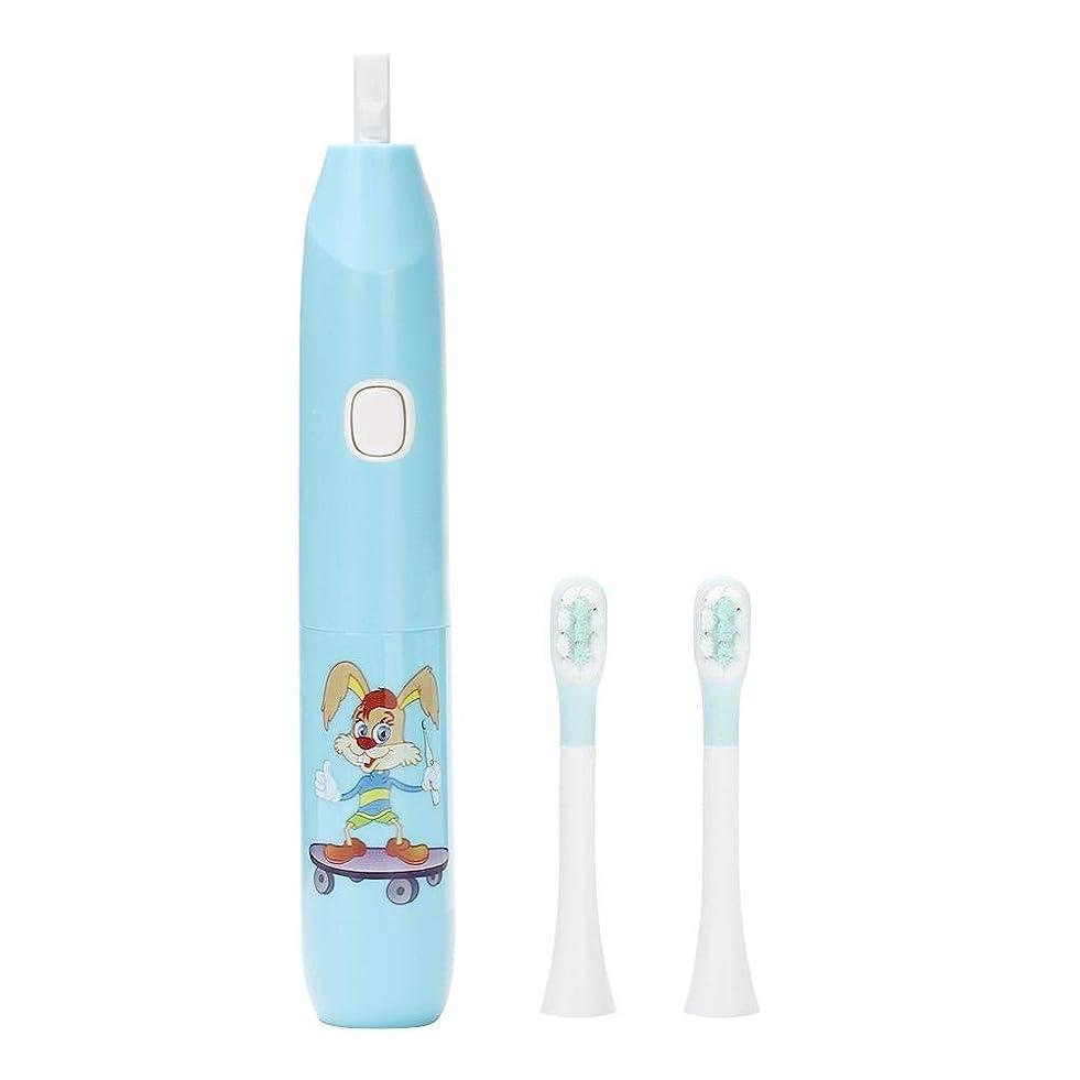 結核津波抽選電動歯ブラシ、再充電可能な歯ブラシの大人および子供のための口頭ヘルスケアのための深いクリーニングのきれいなブラシの頭部(青)