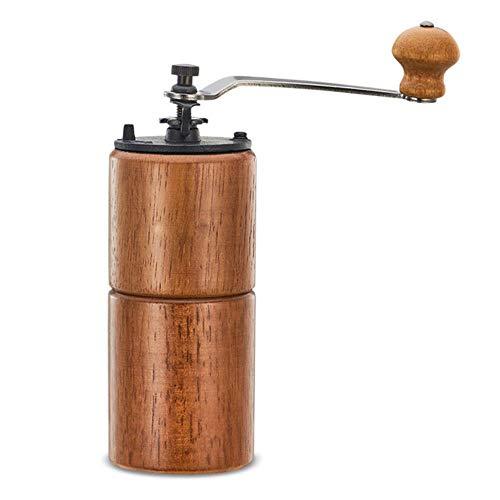 Handmatige koffiemolen hout Hario stijl molen hand koffie keramiek gietijzer 40g mini koffiefreesmachine voor enkele draagbare koffiemolen, bruin