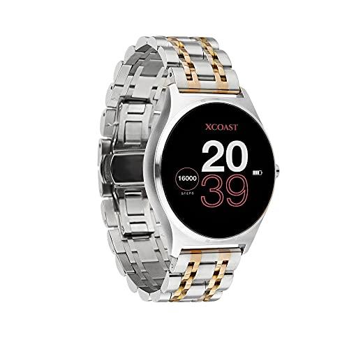 X-WATCH JOLI XW PRO Damen Smartwatch mit Blutdruckmessung-Fitness Watch-Shiny Silver 54059