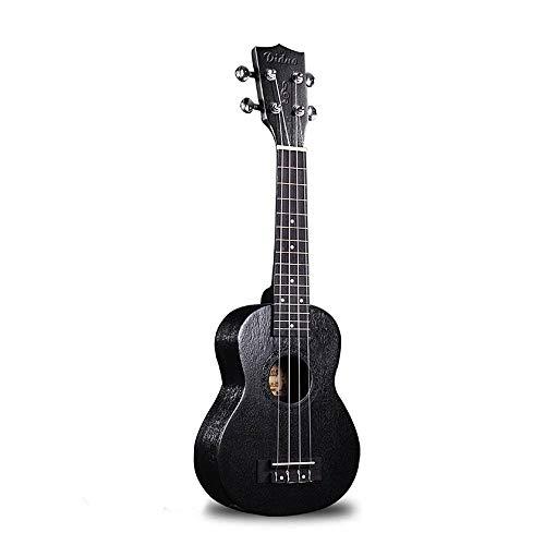 QLJ08 23 21 Pulgadas Negro Ukelele Concierto Eléctrico Ukelele Soprano Hawaii Guitarra...