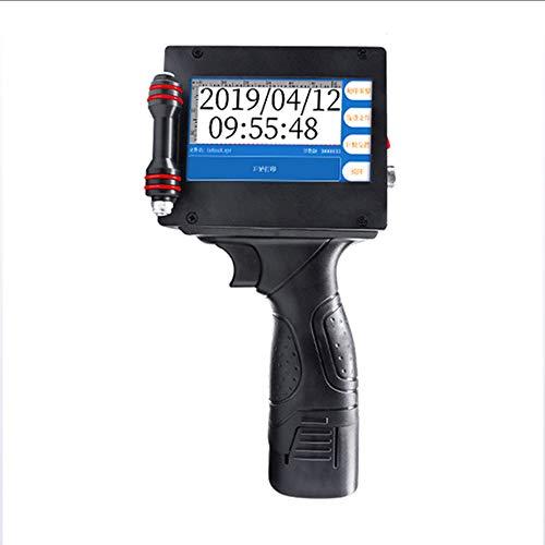 GOMOV Portable Intelligent Intelligent Imprimante Jet d'encre (T30), Logo Marque Graphique Date d'impression Machine, Jusqu'à Hauteur 25,4 Mm 4.3 Pouces LED Écran Tactile Cartouche d'encre