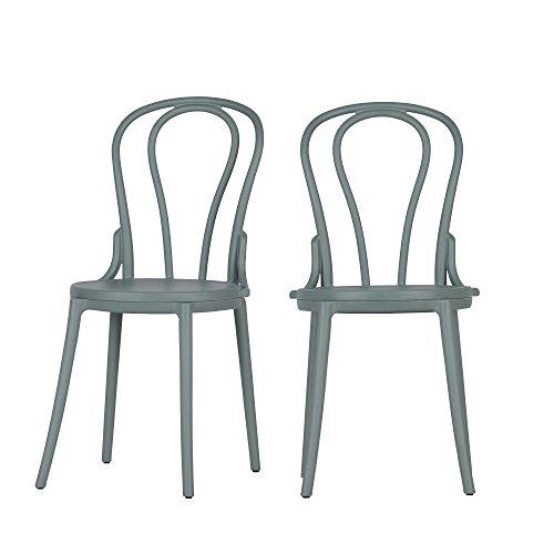 Woood Bibi-Juego de 2 sillas de plástico, 88.5 x 50.5 x 44.5 cm
