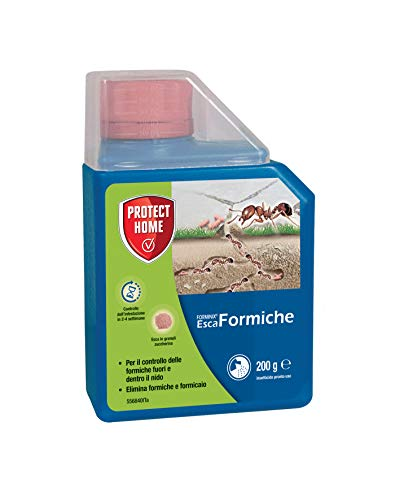 PROTECT HOME ESCA FORMICHE 200g FORMINIX Cebo Hormigas granular. Elimina el Nido resolviendo el Problema 200 g, Granulado Rosa