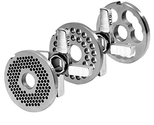WolfCut R70 Lochscheibensatz 3mm + 8mm Bohrung + 2 Kreuzmesser + 1 Vorschneider System Unger Werkzeugstahl