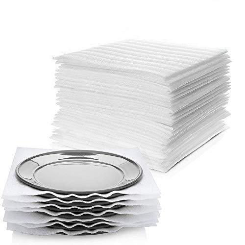 Hojas de espuma de embalaje para mover y proteger tu vaso y utensilios de cocina con suministros de envoltura de espuma, envoltura de cojín fuerte (paquete de 60)