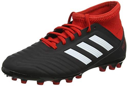 Adidas Predator 18.3 AG J, Botas de fútbol Unisex niño, Negro (Negbás/Ftwbla/Rojo 001), 36 2/3 EU