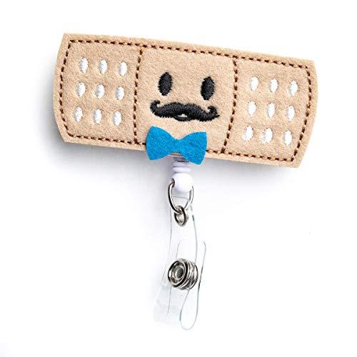 Boy Bandaid Badge Reel Holder – Nursing Name Badge Holder – Felt Badge Reel for Nurses, Students & Teachers – Cute & Practical ID Badge Holder – Alligator Clip – Easy to Use & Resistant