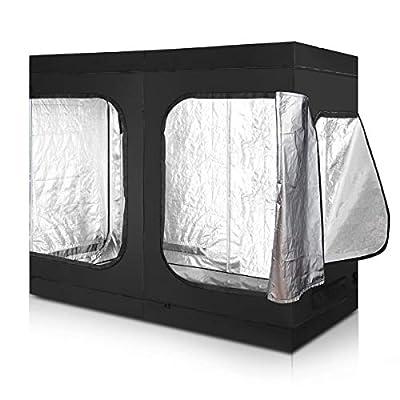 Giantex Plant Growing Tent Indoor Grow Tent Room Reflective Mylar Hydroponic Non Toxic Clone Hut 6-Size Indoor Grow Tent (96''X48''X78'')