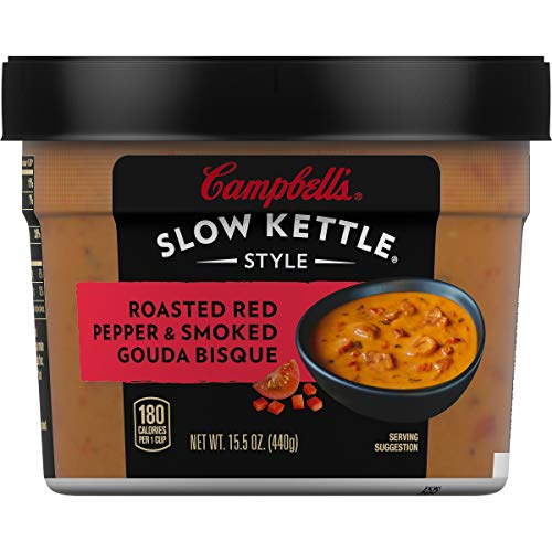 Campbell's Slow Kettle Style Roasted Red Pepper & Smoked Gouda Bisque, 15.5  oz. Tub