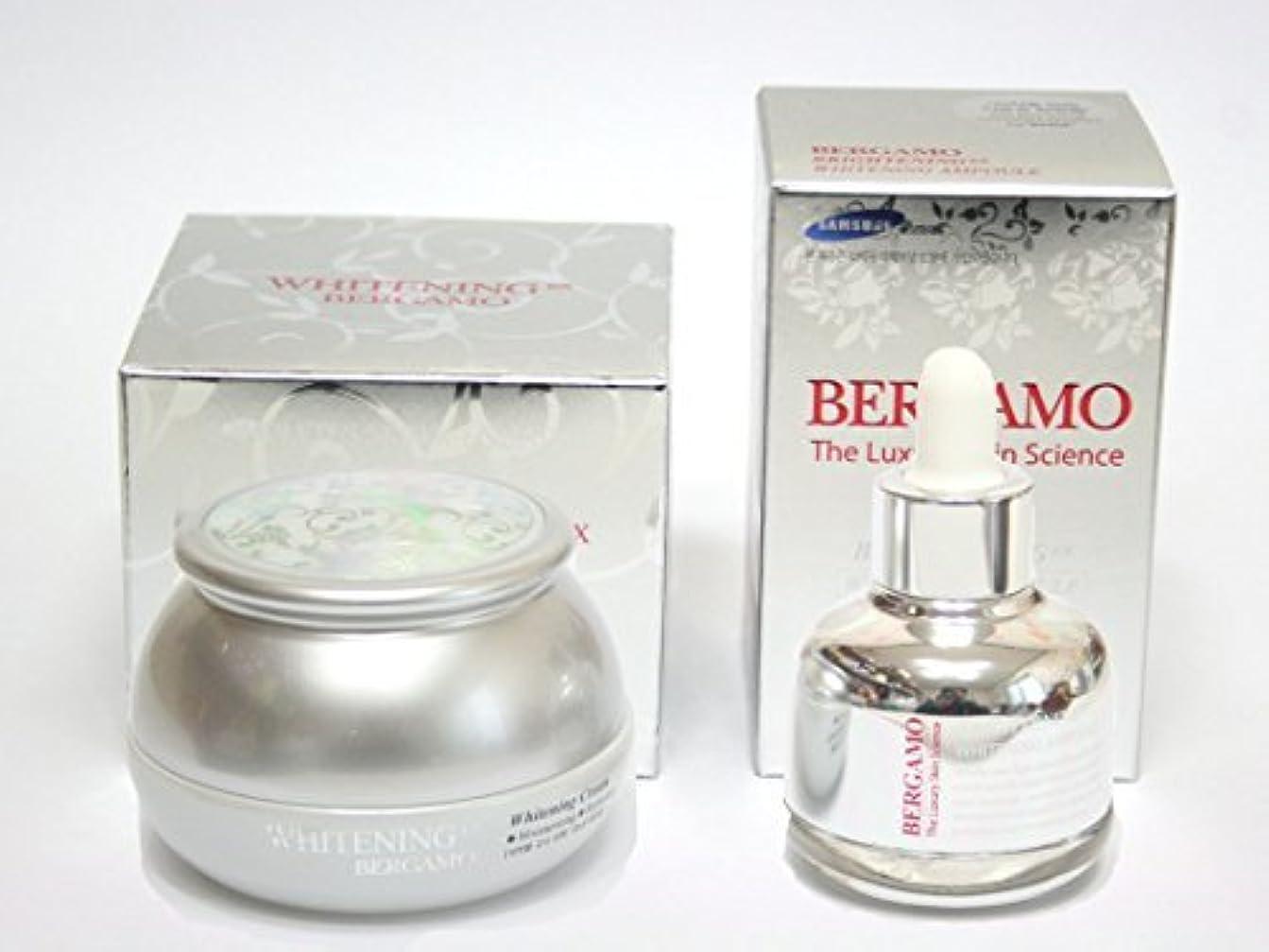 統治可能六分儀オークランド[BERGAMO] ホワイトニングEXクリーム50ml&ラグジュアリースキンサイエンスブライトニングEXホワイトニングアンプル30ml/韓国化粧品/Whitening Ex Cream 50ml & Luxury Skin Science Brightening Ex Whitening Ampoule 30ml/Korean Cosmetics [並行輸入品]