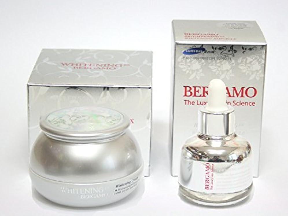 系統的成功した戦術[BERGAMO] ホワイトニングEXクリーム50ml&ラグジュアリースキンサイエンスブライトニングEXホワイトニングアンプル30ml/韓国化粧品/Whitening Ex Cream 50ml & Luxury Skin Science Brightening Ex Whitening Ampoule 30ml/Korean Cosmetics [並行輸入品]