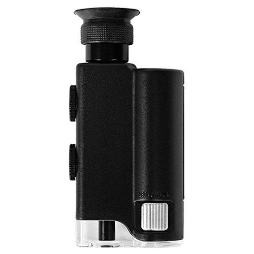 Pocket-Sized Microscope - SODIAL(R)400X LED UV Light Pocket...