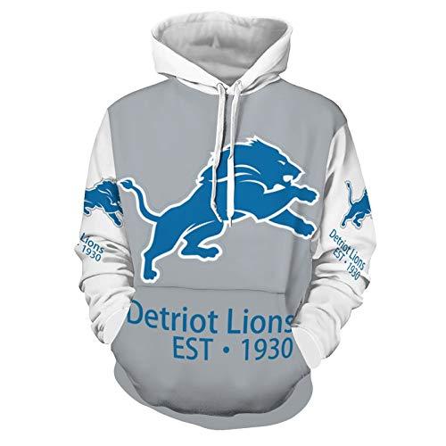 Siskiyou Detriot Lions Men's Women's Team Hoodie Pullover Logo Unisex Adult Sweater