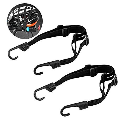 LATTCURE Fahrrad Spanngurt Elastische Gepäckgurt Spannseile mit Haken Verstellbarer Gepäckspanner Gepäckträger Fahrradgurt für Motorradhelm, Fahrradgepäck