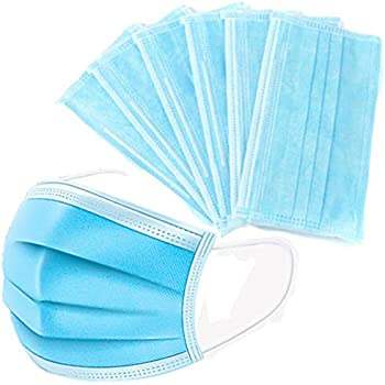 50-Pack Tatube Disposable Filter Mask 3 Ply Earloop Face Masks