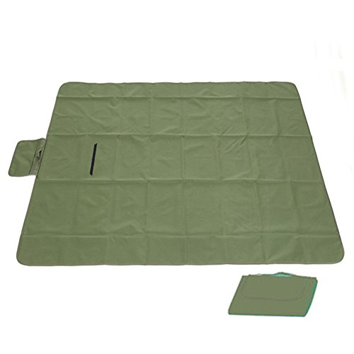 OUTDOOR Coco Einfarbig Wasserdichte Oxford Tuch Picknickdecke Strand Teppich Camping Zelt Pad 150 * 200 cm (Farbe : Camouflage Green)