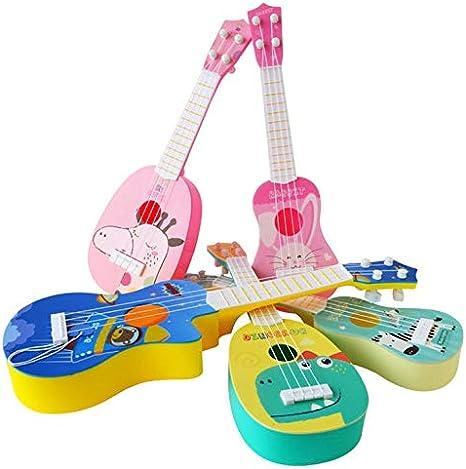 #N//V Kinder Trompete Simulation Instrument Ukulele Mini 4-saitig Spielbares Musikspielzeug Fr/üherziehung Spielzeug