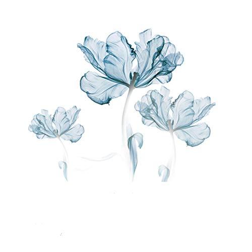ZIUKENR - Adhesivo decorativo para pared, diseño de flores y murales