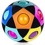 Mamowla Magic Rainbow Ball 3D Puzzle Ball Arco Iris Pelota Juguetes Educativos Speed Cube Rainbow Puzzle Ball Pelota Mgica Arco Iris Desarrollar La Inteligencia para NiñOs Y Adultos Negro