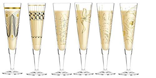 CREAFLOR HOME Ritzenhoff Champus - Juego de 6 copas de champán (otoño)