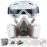 Respirador RHINO Máscara Antipolvo Reutilizable Máscara de Gas...