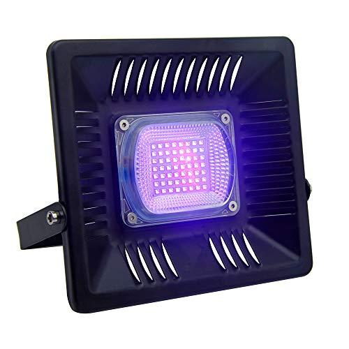 Luz negra IP65, 30 W, 85 – 265 V, alta potencia, con enchufe europeo, para fiestas, acuario, pintura, curar, pesca, neón brillante, luz LED UV, decoración de discoteca (paquete de 1)