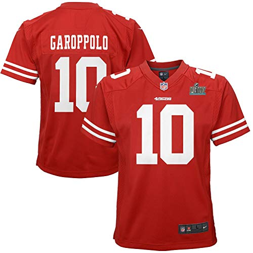 Outerstuff Jimmy Garoppolo San Francisco 49ers #10 Youth Super Bowl LIV Game Team Jersey Red (Youth Large 14/16)