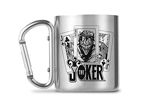 empireposter DC Comics - The Joker - Edelstahl Tasse Karabinergriff - Carabiner Mug - 230 ml