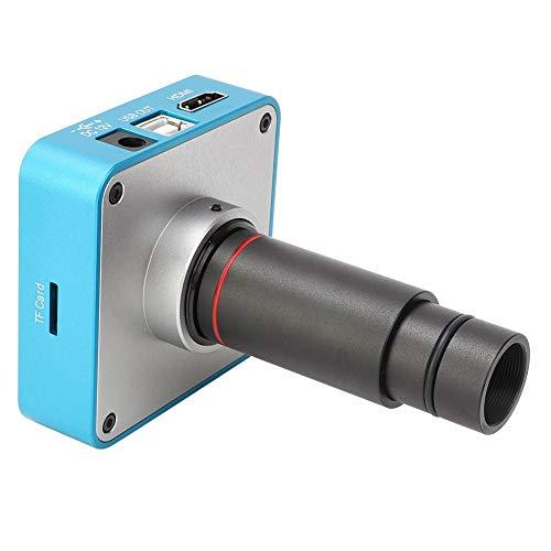 Telecamere industriali, Microscopio digitale leggero da 34 MP con telecomando, Telecamera per microscopio industriale con HDMI/USB 2.0 a due uscite, Realizzato in lega di alluminio+lente ottica(EU)