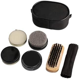 KPST - 1set Shoe Shine Care Kit Polish Cleaning Brushes Sponge Cloth Travel Set With Case Portable Case Set Neutral Polishing Tool - By KPST