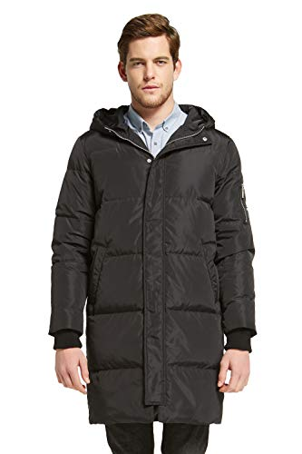 Orolay Men's Thickened Down Jacket Winter Warm Down Coat Black