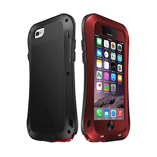 SHENGZHENHAOLIJJYPSH Love Mei for iPhone 6 Plus Metal Ultrafino Cintura pequeña Impermeable A Prueba de Polvo A Prueba de Golpes Funda Protectora Potente for iPhone 6 Plus (Color : Rojo)