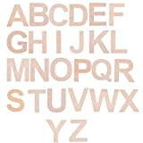 BCP Set of 26 A to Z Wood Craft Plywood Wooden Alphabet Letters, 2-7/8inches