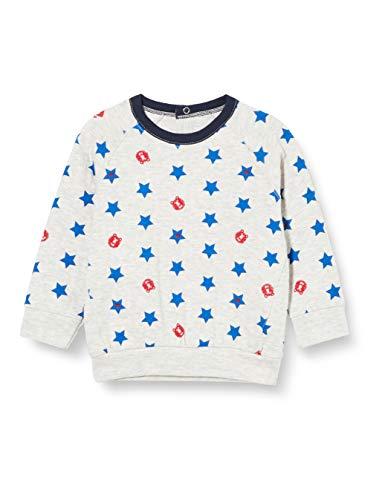 Petit Bateau Baby-Sweatshirt für Jungen, Tubisch Gr. 86, Beluga/Mehrfarbig
