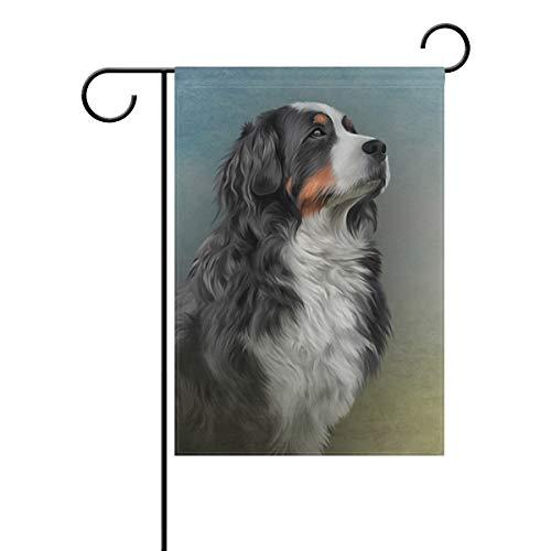 Hokkien Ölgemälde Berner Berner Hund Garten Fahne Fahne Banner 30,5 x 45,7 cm Deko Garten Flagge für Outdoor Rasen Garten Haus Deko doppelseitig 12x18(in) Multi