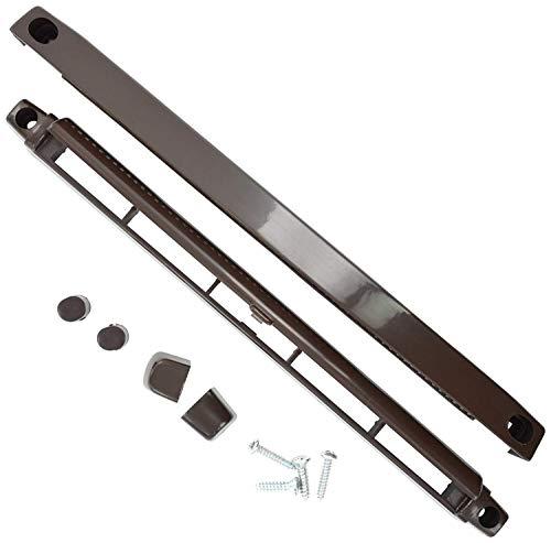 Bulk Hardware BH03174 Merriway BH03174-Rejilla de ventilación ajustable para ventanas enmarcadas en uPVC o madera, para frenar la condensación, 260 mm, color marrón, 260mm