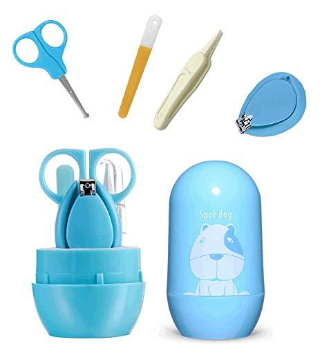 Mydio Juego de cortaúñas de bebé Set de manicura infantil Kit de manicura para recién nacidos, incluye cortaúñas, tijeras de uñas de seguridad, pinzas y lima de uñas