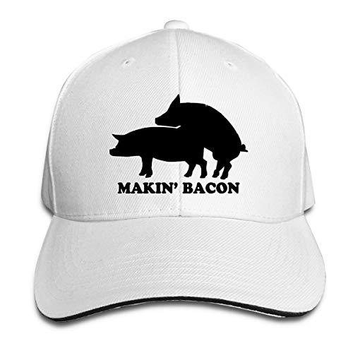 Makin Making Bacon Pig Unisex Adult Baseball Caps Adjustable Sandwich Caps Jeans Caps Adjustable Denim Trucker Cap