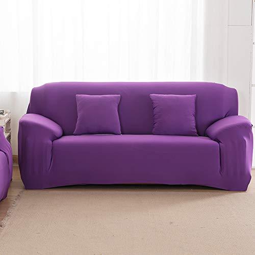 Funda de Sofá Elastica de 1 2 3 4 Plazas Universal,Funda Cubre Sofas Ajustables de Color Sólido Antideslizante Protector Cubierta de Muebles con Cuerda de Fijación,Anti Gatos I 3 Plaza