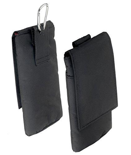 yayago Verticaltasche Hülle für Meizu MX4 Pro Schutzhülle Tasche mit Klettverschluß Schwarz