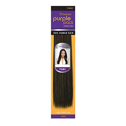2-PACK DEALS ! Outre Human Hair Weave Premium Purple Pack Yaki (12', 1B)