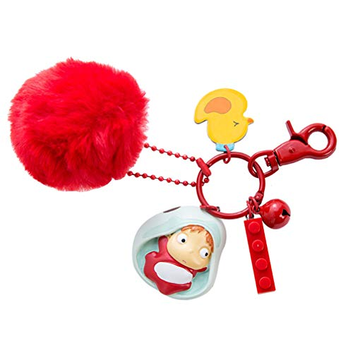Ponyo on Falaise Ponyo Keyring Women Book Bag Pendant Doll Cartoon Ornaments