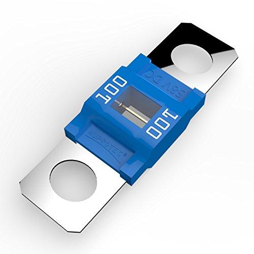 AUPROTEC Midi Hochstromsicherung Schraubsicherung 40A - 100A Auswahl: 100A Ampere blau, 3 Stück