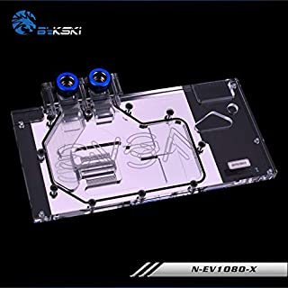 Full-Cover GPU Block Water PC Computer Water Cooling Block Liquid Cooler Water Cooled Kit for Video Card VGA EVGA GTX1080 8G FTW EVGA GTX1070 8G FTW EVGA GTX 1070Ti FTW Ultra Gaming