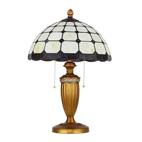 DIMPLEYA Lámpara de Mesa de Cristal Retro, Estilo de Escritorio de la Personalidad de Oro de Estilo Tiffany nórdico para el Escritorio de Estudio