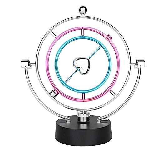 pendulo Newton,Decoración de Escritorio ,Bolas Decorativas,Rotación Movimiento perpetuo Swing Globo Celeste Newton Péndulo Modelo Cinético Orbital Gadget Giratorio Adornos para el hogar Artesanía
