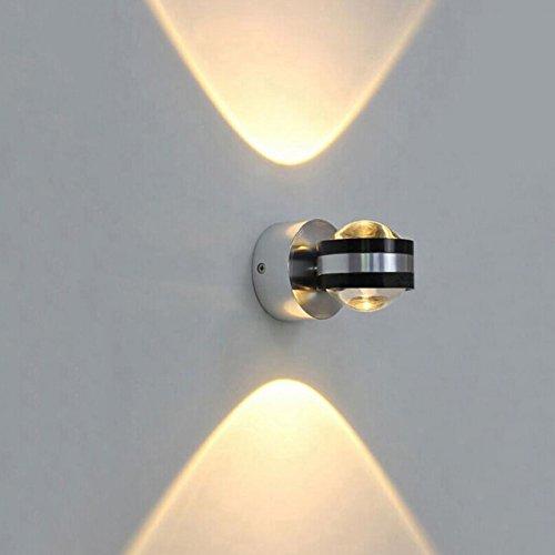 ETiME LED Wandleuchte innen Wandlampe Flurlampe Treppenleuchten Deckenleuchte up down effekt 6W (6W warmweiss Design)